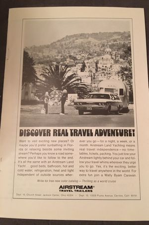 Airstream and Streamline Travel Trailer original vintage advertisements for Sale in Rancho Santa Margarita, CA