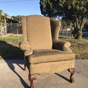 Chair, Furniture, Olive Green Chair, for Sale in Tampa, FL