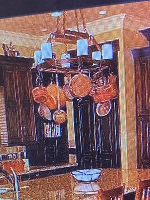 Hanging light/pot rack for Sale in Bluffdale, UT