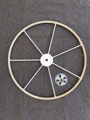 """34"""" Edson Helm steering wheel white gray suede for Sale in San Diego, CA"""