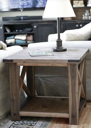 CUSTOM Farmhouse style end table for Sale in San Diego, CA