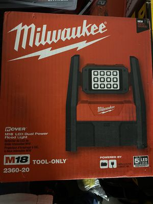 Milwaukee M18 LED dual power flood light TOOL ONLY for Sale in Milpitas, CA