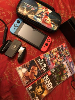 Nintendo switch with games for Sale in Baldwin Park, CA