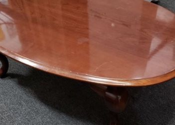Cherry Cabriole Leg Coffee Table for Sale in Lacey,  WA