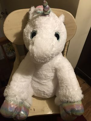 """New Huge 28"""" sitting unicorn stuffed animal for Sale in Levittown, PA"""