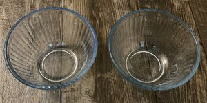 SET OF 2 CLEAR BLUE PYREX GLASS 3 CUP / 750ml MODEL 7401-3 BOWLS for Sale in Chapel Hill, NC