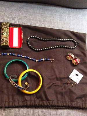 Lipstick holder, bracelets, earrings, necklace and pillbox for Sale in Farmville, VA