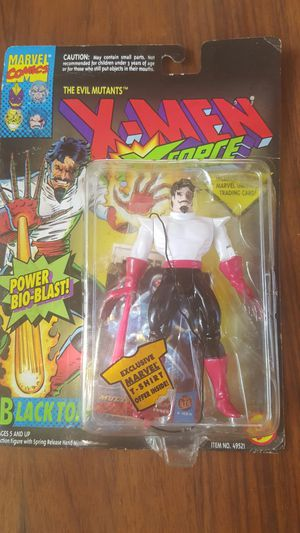 1/12 Marvel Comics X-Men X-Force Blacktom Action Figure & Trading Card Toy Biz 1994 for Sale in South Miami, FL