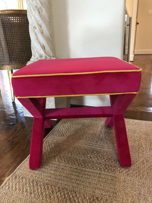 Hot Pink Velvet Stool from Wisteria for Sale in Frisco, TX