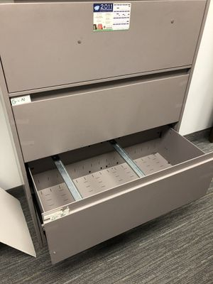 Large 3 drawer file cabinet for Sale in Dallas, TX