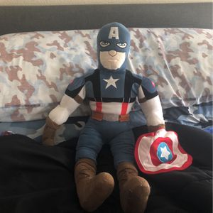 "Marvel captain America 24 "" Plush Toy for Sale in Lake Forest, CA"