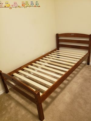 Wood twin bed frame for Sale in Lacey, WA