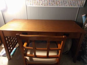 Wood desk and chair for Sale in Roseville, CA