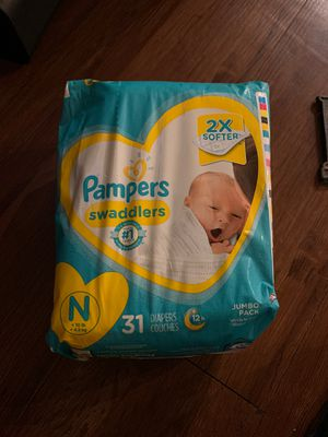 Pampers size newborn for Sale in Round Rock, TX