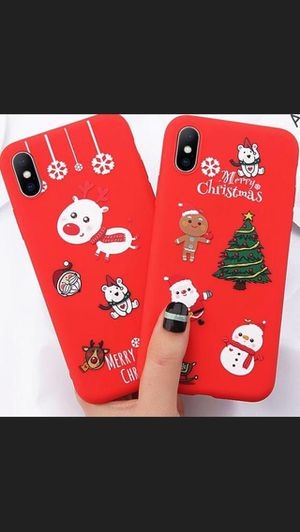 New soft Iphone case 7/8/XR cute cartoon santa claus Christmas Gift for Sale in Arlington, VA