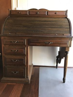 Rolled top desk built by antique craftsman over 70 years ago for Sale in Temple City, CA