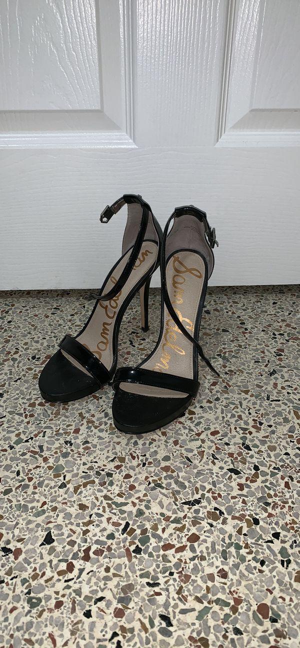 Sam Edelman Black Ankle Strap Heels/ Size 8.5