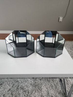 Pair of mirrored vases for Sale in Deltona, FL