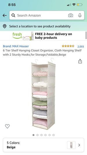 Closet Organizer - 6 shelves for Sale in Seattle, WA