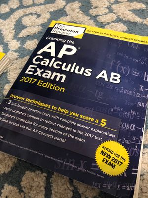 The Princeton Review: AP Calculus AB Practice Exam Book for Sale for sale  Lyndhurst, NJ
