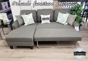 $479 WE DELIVER! BRAND NEW GREY SECTIONAL SOFA WITH PULLOUT BED for Sale in Oviedo, FL