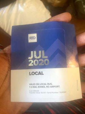 July bus pass $70 for Sale in Denver, CO