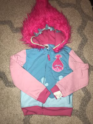 Girls Trolls sweatshirt hoodie size 6 pink zipper new with tags for Sale in Boynton Beach, FL
