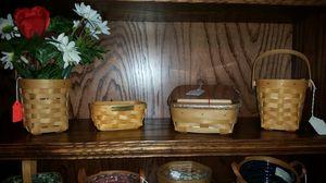Small Longaberger baskets - pen pal, business card, pen for Sale in Arlington, TX