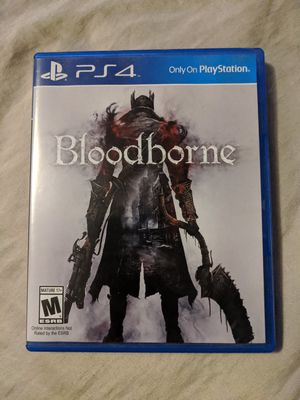 Bloodborne (Playstation 4, PS4 Game, SONY, From Software) Very Good Video Game for Sale in Webster, MN