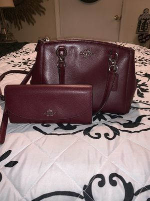 AUTHENTIC LEATHER COACH PURSE & WALLET for Sale in Powder Springs, GA