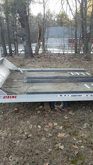 Two place tilt trailer excellent condition for Sale in Gardner, MA