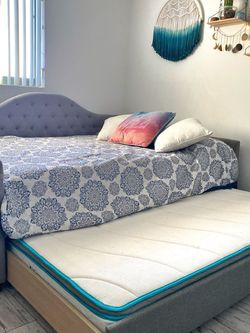 **$1300 VALUE** FULL Size Bed With Twin Trundle Pull Out + Matresses ! for Sale in Miami,  FL