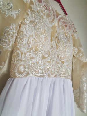 Womans Lace Top Dress Nude/ White size L/XL for Sale in Gresham, OR