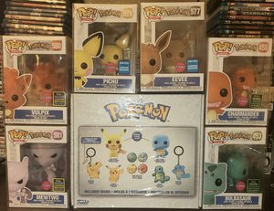 8 Exclusive/Limited Edition Flocked Pokemon lot with Funko Box: Pokemon Only at GameStop! New/Sealed) Brand New with pop protectors for Sale in Rancho Cucamonga, CA