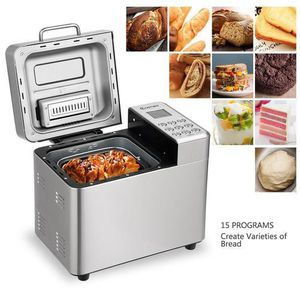 Costway 2 LB Automatic Bread Maker Stainless Steel Programmable Bread Machine Silver EP23592 for Sale in Palmdale, CA