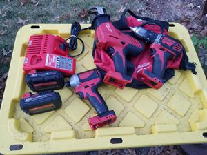 Milwaukee 3pc 18v combo set in good working for Sale in Alexandria, VA