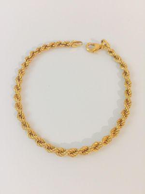 24K Gold plated 925 Italian Sterling Silver Bracelet for Sale in Baldwin Park, CA