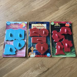 Vintage Disney 90s Cookie Cutters Swan Princess Pocahontas Power Rangers for Sale in Vancouver, WA
