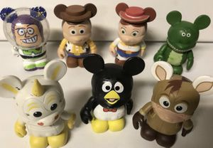 Disney Vinylmation Toy Story Series Lot of 7 Figures Rex, Buzz, Jessie, Bullseye for Sale in Kenmore, WA