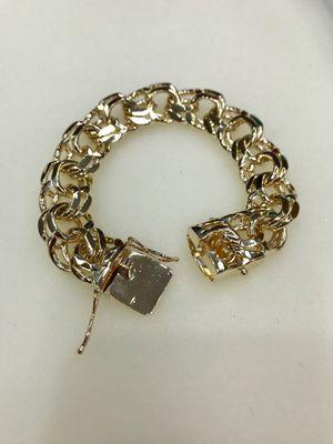 10 karat gold chino link bracelet custom made (103g) ( item # M103) for Sale in Houston, TX