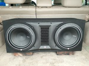 ROCKER FOSGATE PUNCH P1 10S WITH AMP for Sale in Nederland, TX