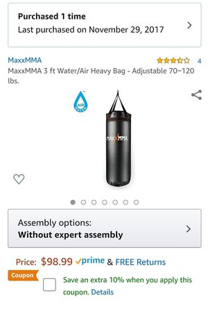 Water punching bag still in box never used for Sale in Boynton Beach, FL