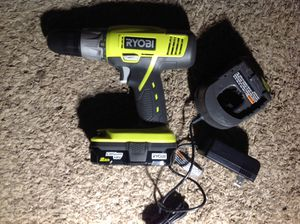 Ryobi brand New 18V Cordless drill SET with 2.0Ah battery & charger!! Only $25 for Sale in Irving, TX