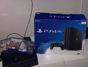 PS4 pro with 2 controllers for Sale in US