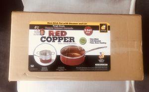 Brand New Red Copper Ceramic Copper Infused 2.5 qt Pot Cookware for Sale in El Cajon, CA
