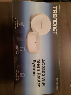 Trendnet AC2200 WiFi Mesh Router System TEW-830MDR2K NEW for Sale in Grand Prairie, TX