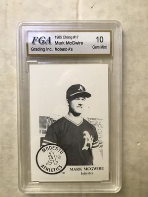 Mark McGwire Modesto A's minor league baseball card Gem Mint 10 Rare! for Sale in Raleigh, NC