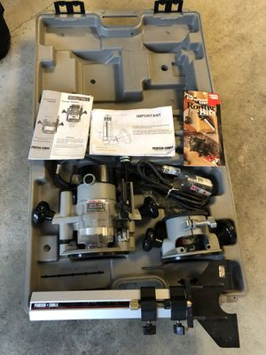 Porter Cable Router Combo Kit, 1 3/4 HP, with base for Sale in Redmond, WA