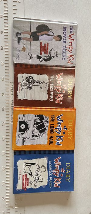 4 Diary of a wimpy kid books for Sale in Sanger, CA
