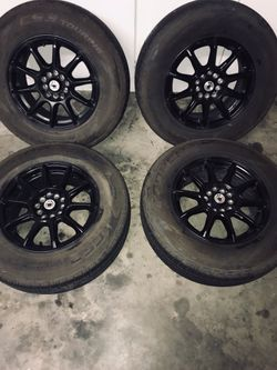 15 in cooper tires with konig black rims. 215/70R15 for Sale in Lexington,  SC